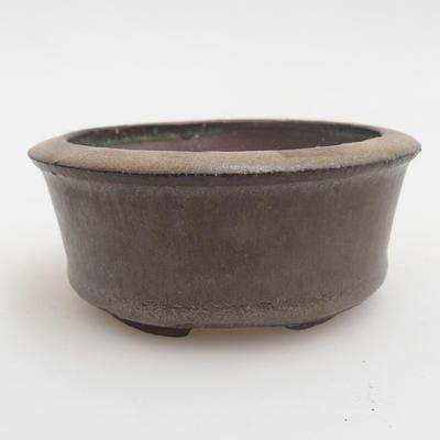 Ceramic bonsai bowl 8 x 8 x 3,5 cm, color green - 1
