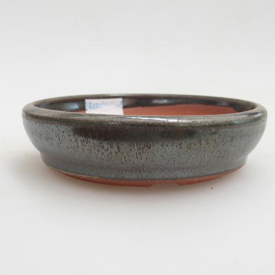 Ceramic bonsai bowl 10 x 10 x 2,5 cm, color green - 1
