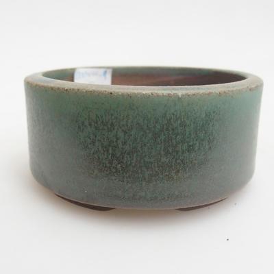 Ceramic bonsai bowl 8.5 x 8.5 x 4 cm, color green - 1
