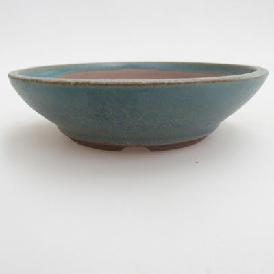 Ceramic bonsai bowl 12 x 12 x 3,5 cm, color green - 1