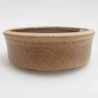Ceramic bonsai bowl 11 x 11 x 4 cm, color beige - 1