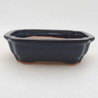 Ceramic bonsai bowl 15 x 11.5 x 4.5 cm, color blue - 1