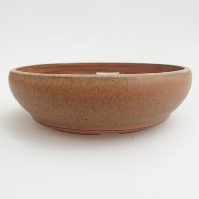 Ceramic bonsai bowl 12 x 12 x 3 cm, red color - 1
