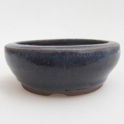 Ceramic bonsai bowl 8 x 8 x 3 cm, color blue - 1