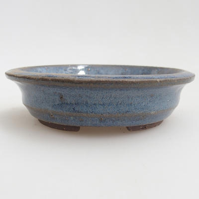 Ceramic bonsai bowl 11,5 x 11,5 x 3 cm, color blue - 1