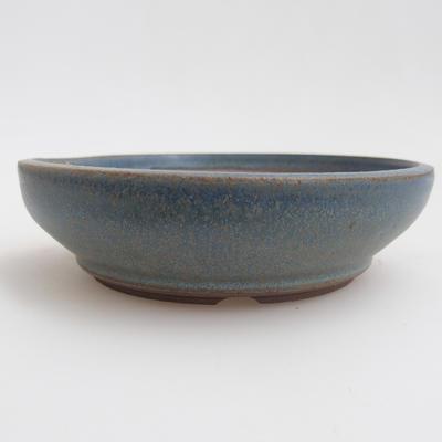 Ceramic bonsai bowl 12 x 12 x 3 cm, color blue - 1