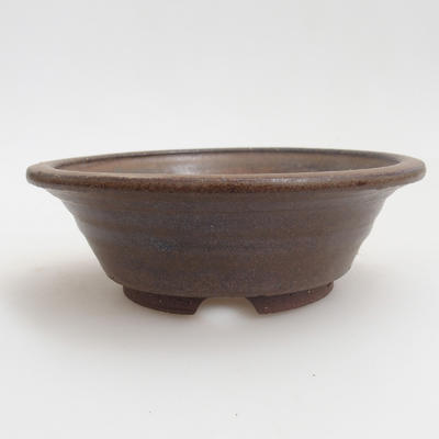 Ceramic bonsai bowl 12 x 12 x 4 cm, brown color - 1