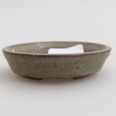 Ceramic bonsai bowl 4,5 x 4,5 x 1,5 cm, color green - 1