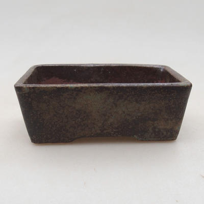 Ceramic bonsai bowl 9 x 7 x 4 cm, gray color - 1