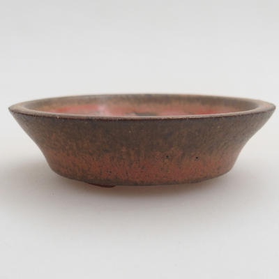 Ceramic bonsai bowl 6 x 6 x 1,5 cm, red color - 1