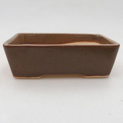 Ceramic bonsai bowl 12 x 9 x 3.5 cm, color brown - 1