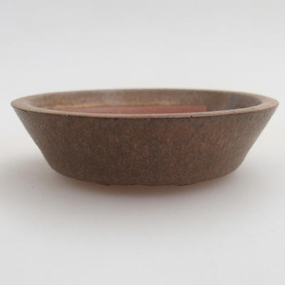 Ceramic bonsai bowl 6 x 6 x 1,5 cm, color brown - 1