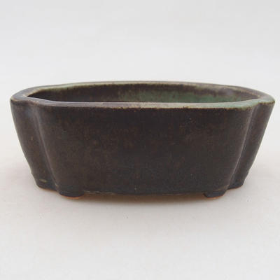 Ceramic bonsai bowl 10 x 7.5 x 3.5 cm, color green - 1