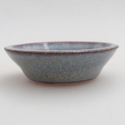 Ceramic bonsai bowl 5,5 x 5,5 x 1,5 cm, color blue - 1