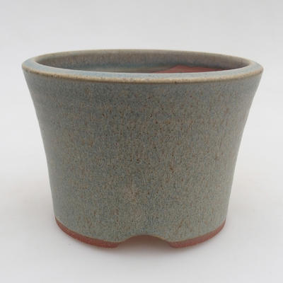 Ceramic bonsai bowl 10.5 x 10.5 x 7.5 cm, color blue - 1