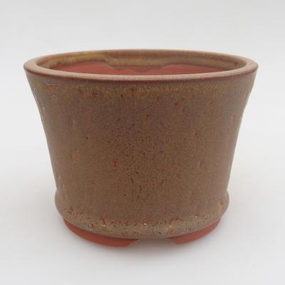 Ceramic bonsai bowl 11,5 x 11,5 x 8 cm, color brown - 1