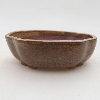 Ceramic bonsai bowl 10 x 8 x 3 cm, color brown - 1