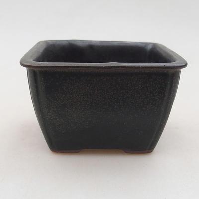 Ceramic bonsai bowl 8 x 8 x 5 cm, gray color - 1