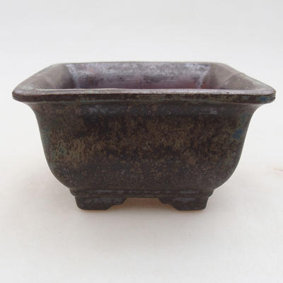 Ceramic bonsai bowl 9 x 9 x 5.5 cm, gray color - 1