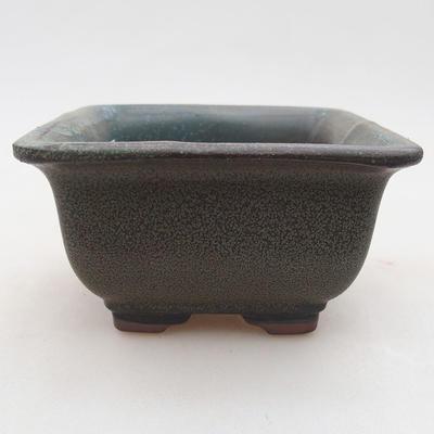Ceramic bonsai bowl 9 x 9 x 5.5 cm, gray color - 1