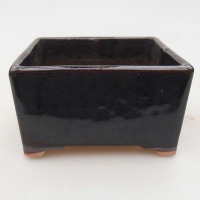Ceramic bonsai bowl 8 x 8 x 4.5 cm, color black - 1