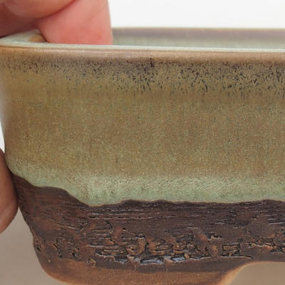 Ceramic bonsai bowl 15 x 10 x 5 cm, color green - 1