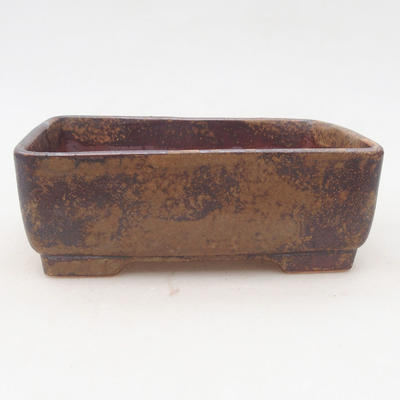 Ceramic bonsai bowl 15 x 11 x 5.5 cm, color brown-green - 2nd quality - 1