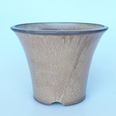 Ceramic bonsai bowl 27 x 27 x 21 cm color beige-beige - 1