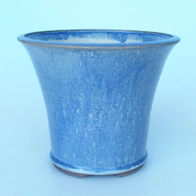 Ceramic bonsai bowl 25 xx 25 x 21cm color blue - 1