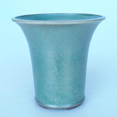 Ceramic bonsai bowl 21 x 21 x 21 cm color green - 1