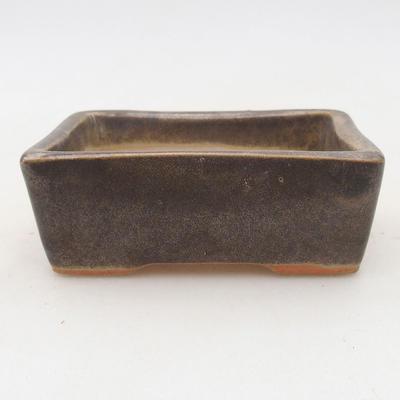 Ceramic bonsai bowl 9.5 x 7 x 3.5 cm, color brown-green - 2nd quality - 1