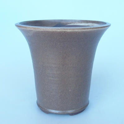 Ceramic bonsai bowl 20,5 x 20,5 x 19 cm color brown - 1