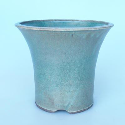 Ceramic bonsai bowl 25 x 25 x 21 cm green-brown color - 1