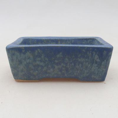 Ceramic bonsai bowl 9.5 x 7 x 3.5 cm, color blue - 2nd quality - 1