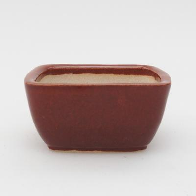 Mini bonsai bowl 6 x 5 x 2,5 cm, color brown - 1