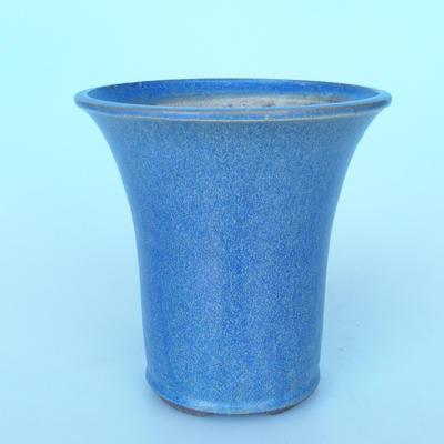 Ceramic bonsai bowl 20 x 20 x 20,5 cm color blue - 1