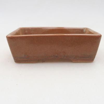 Ceramic bonsai bowl 12.5 x 9 x 4 cm, brown color - 2nd quality - 1