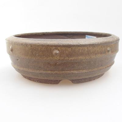 Ceramic bonsai bowl - 18 x 18 x 5,5 cm, color gray - 1