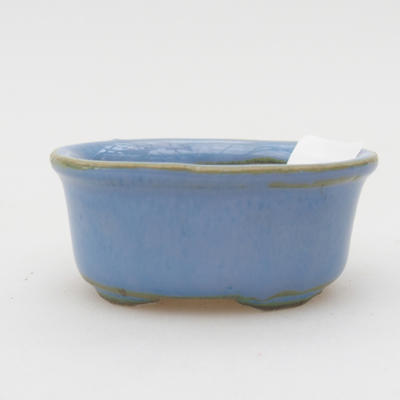 Mini bonsai bowl 4,5 x 3 x 2 cm, color blue - 1