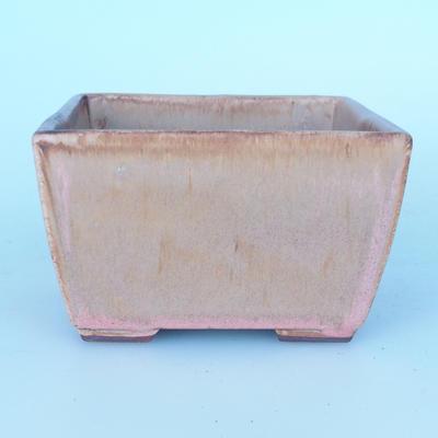 Ceramic bonsai bowl 11 x 11 x 7 cm color pink - 1