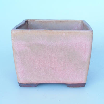 Ceramic bonsai bowl 11,5 x 11,5 x 8,5 cm color pink - 1