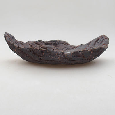 Ceramic bonsai bowl 17 x 11 x 5 cm, gray color - 2nd quality - 1