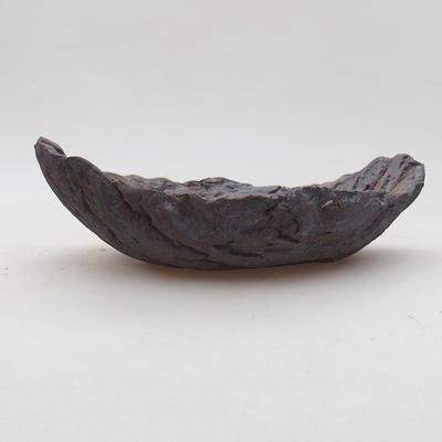 Ceramic bonsai bowl 16 x 10 x 5.5 cm, gray color - 2nd quality - 1