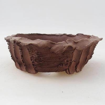 Ceramic bonsai bowl 13 x 13 x 4.5 cm, gray color - 2nd quality - 1