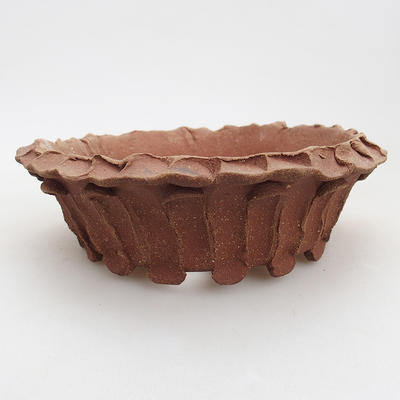 Ceramic bonsai bowl 17 x 17 x 5 cm, gray color - 2nd quality - 1