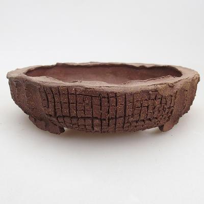 Ceramic bonsai bowl 17 x 17 x 4 cm, gray color - 2nd quality - 1