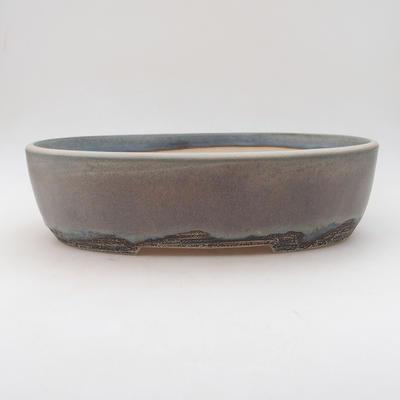 Bonsai bowl 31 x 23.5 x 8.5 cm, gray color - 1