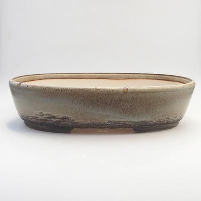 Bonsai bowl 38 x 30 x 9 cm, color gray-brown - 1