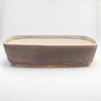 Bonsai bowl 44 x 34 x 10.5 cm, gray-beige color - 1
