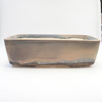 Bonsai bowl 38 x 27 x 11 cm, gray-beige color - 1